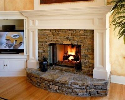 Stacked Stone Hearth And Surround For The Home Juxtapost