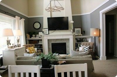 Painting A Room With High Ceilings Without Renting Scaffoldi Decorating Family Room