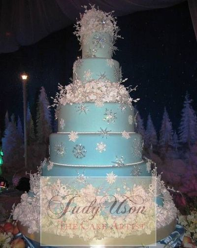 This Cake Would Be Great For A Winter Wonderland Theme
