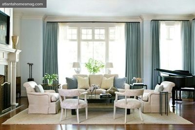 Cream And Blue Living Room : blue + cream living room by Phoebe Howard / For the home - Juxtapost