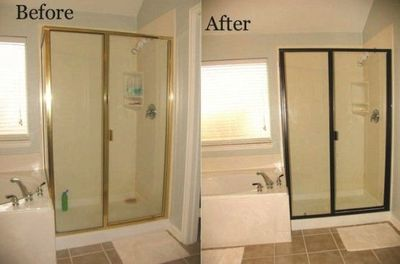 Change out your builder grade brass shower trim using for Cost to paint interior doors and trim