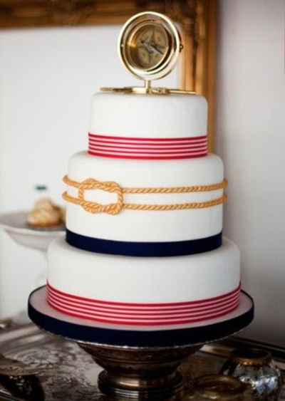 For A Nautical Themed Wedding Wedding Cakes