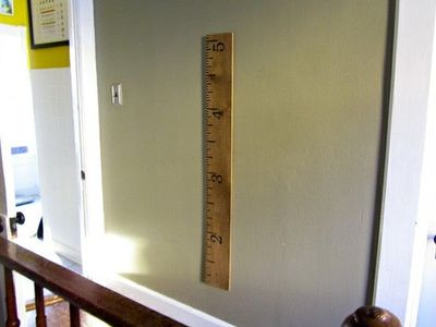 Giant Ruler Growth Chart Diy Stained With Coffee Groun Kids