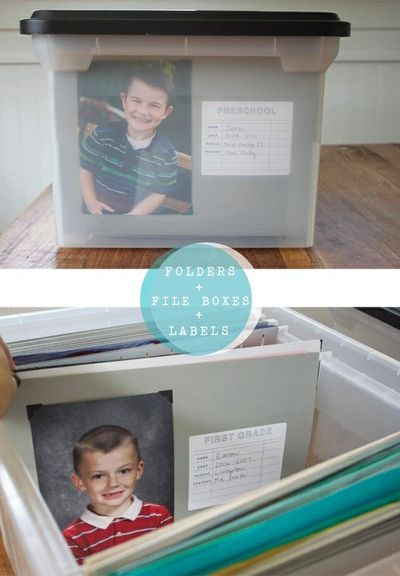 Organizing Kids' School Papers & Memorabilia