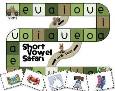 Lucrative image for printable short vowel games