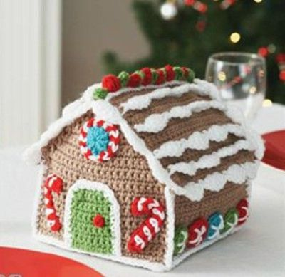 Crocheted gingerbread house pattern from Michael's