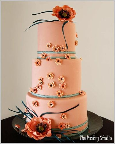 Peach Colored Wedding Cake Wedding Cakes Juxtapost