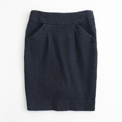 denim pencil skirt j crew factory womens apparel