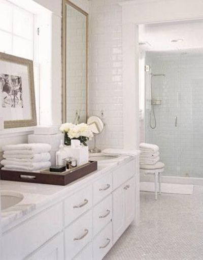 Cleaning Marble Shower : Clean crisp white bathroom design with carrara