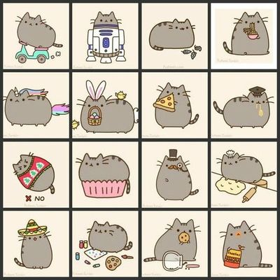 Pusheen Collage Design Concepts Ideas Juxtapost