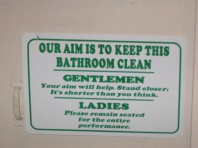 Bathroom Etiquette Signs Funny funny bathroom etiquette images - reverse search