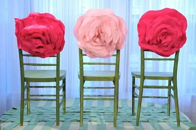 Rose Chair Covers Diy Wedding Decoration