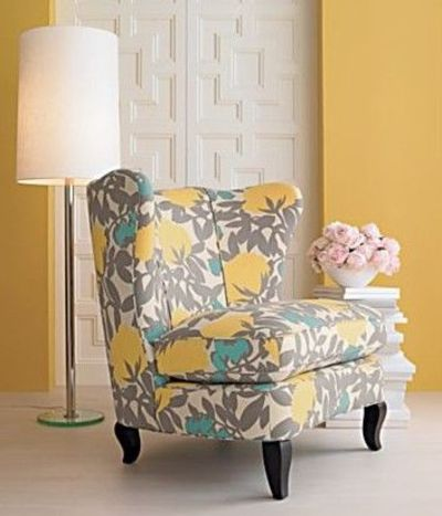 Yellow Turquoise Accent Chair For The Bedroom Juxtapost