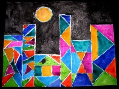Paul Klee Castle - Nice! Love the bright colors!