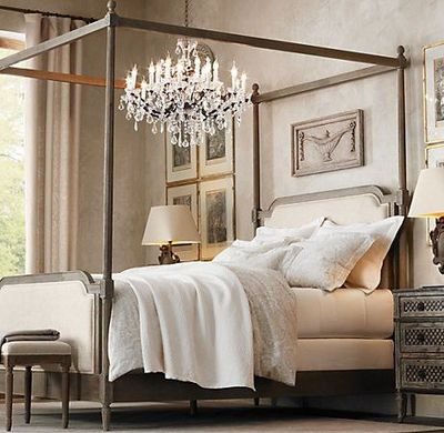 chandelier over bed / For the bedroom - Juxtapost