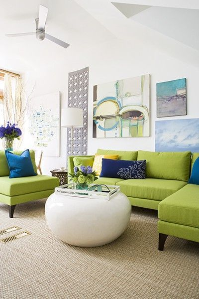 Peacock blue and apple green colour combinations for a livin for the home juxtapost - Blue and green living room ...