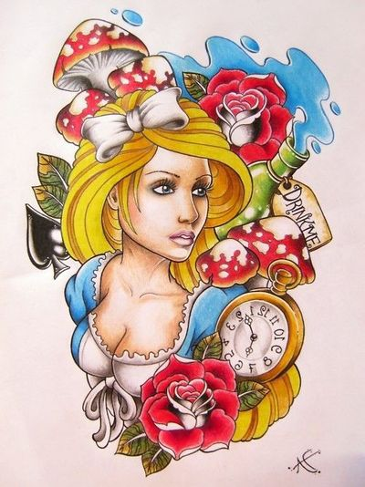 Alice In Wonderland - Tattoo