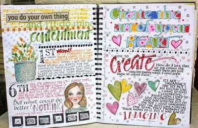 Daily art journal. Inspiration for scrapbook journal