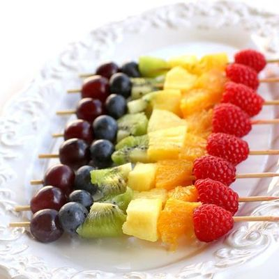 fruit skewers baby shower easy ideas babies things juxtapost