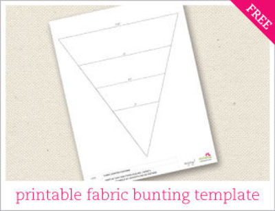 printable fabric bunting template design juxtapost