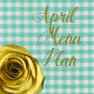 The work is done! An entire menu plan for the month of April including recipe links. Love this! via the amazing shannanigans!