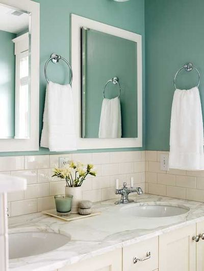 White And Turquoise Bathroom Bath Ideas Juxtapost