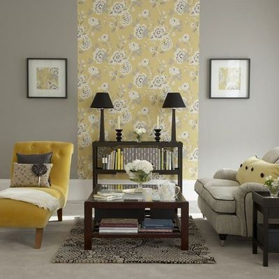 Grey and mustard living room for the home juxtapost for Mustard living room ideas