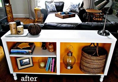 repurposed sofa table