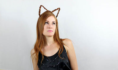 halloween braided cat ears tutorial