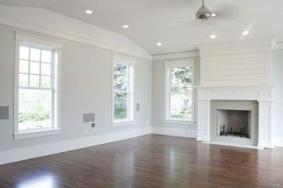 White Trim And Dark Wood Floors For The Home Juxtapost