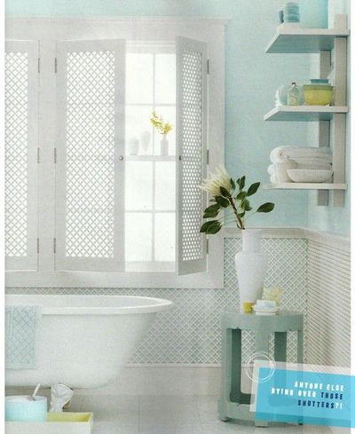 Martha Stewart Living bathroom with spa colors.