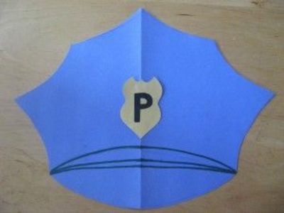 police badge craft for preschool community helpers officer s hat and badge 156