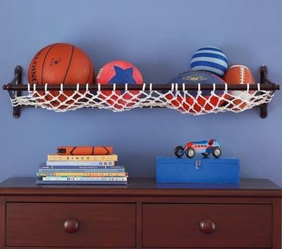 Boys Room storage solution..great net!
