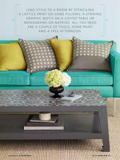 Paint Plan Coffee Table Or Dresser And Cover Surface Drawers W Wallpaper Stencil