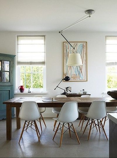 Eames Chairs Farmhouse Table For The Home Juxtapost
