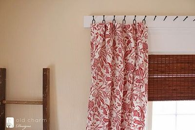 diy curtain 'rod' using forged nails and homemade cu / for the, Bedroom decor
