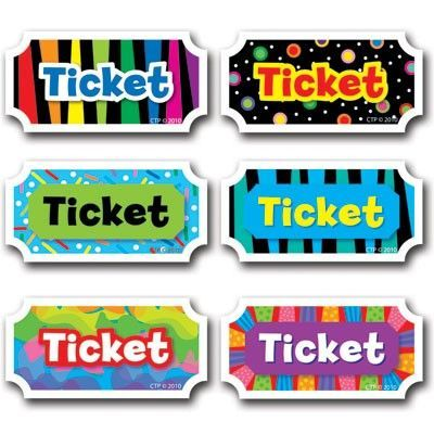 Printable tickets for classroom management incentives school – Tickets Printable