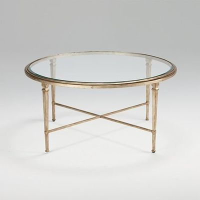 Round Gold Glass Coffee Table For The Home Juxtapost