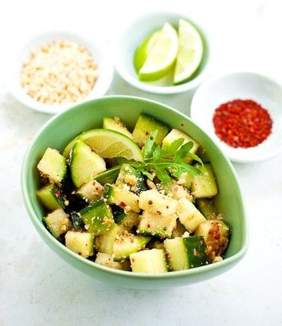 Cucumber Salad with Peanut and Lime / Dinner Ideas - Juxtapost