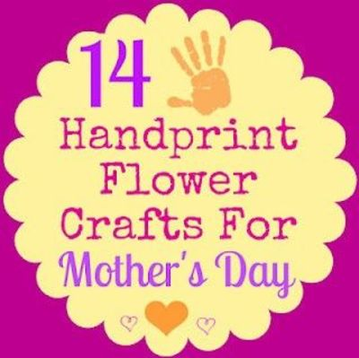14 handprint flower crafts for mother 39 s day preschool for Mothers day art for preschoolers