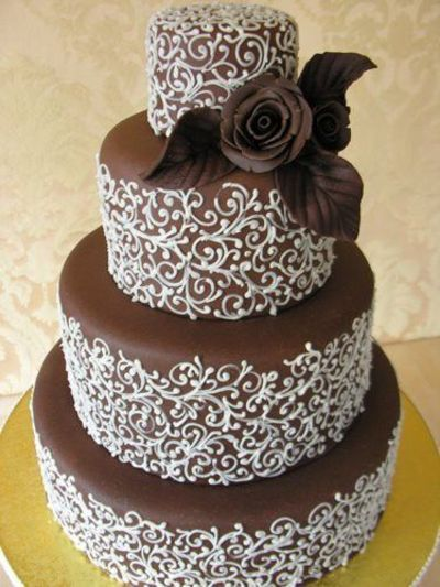 Beautiful Chocolate Wedding Cakes Chocolate Birthday Cake With
