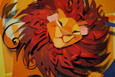 The Lion King Paper Cut By Brittney Lee Theme Parks I