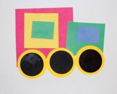 Shapes transportation craft for kids created by brilliant for Transportation crafts for preschoolers