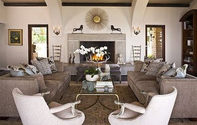 Captivating Two Loveseats In Living Room