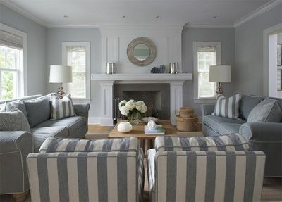 Furniture Placement Fireplace As Focal Point Two Sofas Facing One Another With