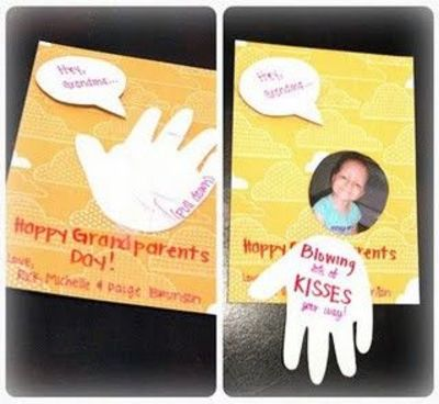 Grandparents Day Card Valentines Hey Grandma Grandpa