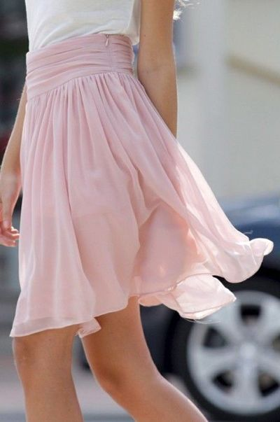 Flowy Pink Skirt Womens Apparel Juxtapost