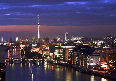 This is a beautiful picture of Berlin. Which is where the setting of the novel takes place.
