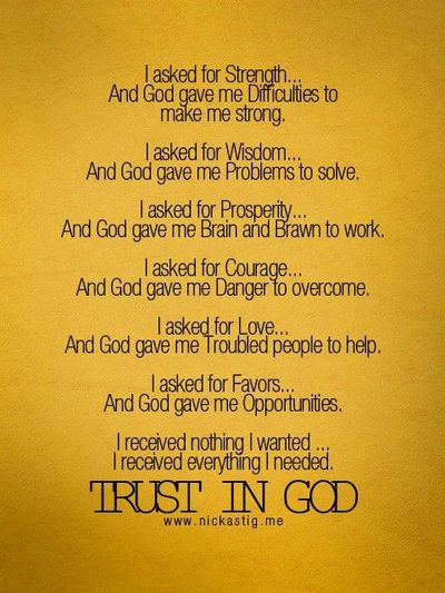 trust in GodQuotes On Trust In God