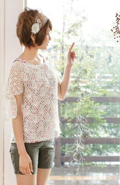 Japanese Crochet Diagrams http://www.juxtapost.com/site/permlink/a998ddd0-b01c-11e1-b207-697731486436/post/crochet_lace_shirt_free_pattern_japanese_diagram_/
